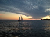 Night Sail on Narragansett - Photo by Captain Mark Paltridge