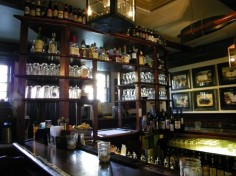 The backbar at the Inn of the Hawke