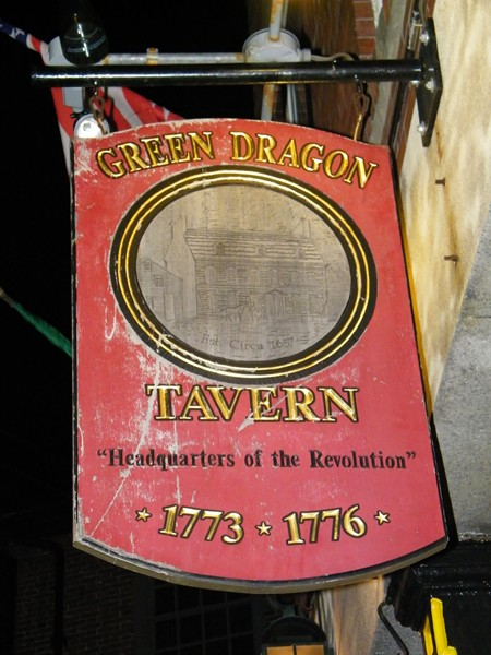 Sign at the Green Dragon Tavern - Boston,MA